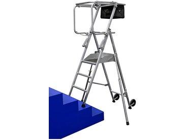 A. Escabeau pro spécial escalier. Hauteur de travail maximale de 2.84m.