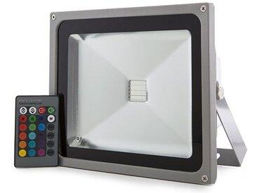 Projecteur LED IP65 30W RGB Télécommande   RVB (JWSFL30RGB)