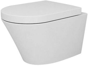 WC suspendu BERNSTEIN - NT2040 revêtement Nano et abattant Soft-Close: Avec standard veilleuse LED