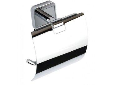 Dérouleur papier toilette TASI en laiton chromé 13 cm avec ou sans couvercle - Avec couvercle