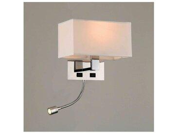 Applique Liseuse à LED Blanc design métal/tissu - Adonis