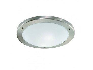 Plafonnier salle de bains nickel satiné 2 Ampoules