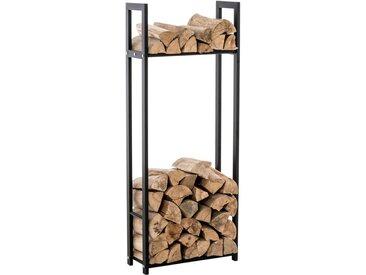 Porte bûches pour bois de cheminée Snow noir 25x60x150 cm