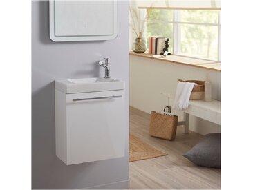 Pack lave mains blanc + lave mains hamac 3 + robinetterie eau froide