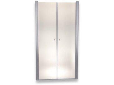 Porte de douche 195 cm largeur réglable 120-124 cm Dépoli-opaque