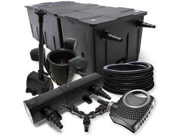 SunSun Kit filtration de bassin 90000l 24W Stérilisateur NEO8000 70W Pompe 25m Tuyau Skimmer Fontaine