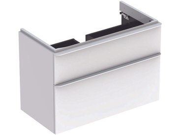 Geberit Meuble sous-lavabo Geberit Smyle Square, 500.354., 884x617x470mm, avec 2 tiroirs, Coloris: Laque brillante blanche - 500.354.00.1
