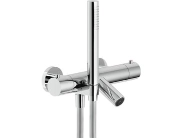 Mitigeur thermostatique de bain externe avec set de douche Nobili PLUS PL00010/2CR   Chromé