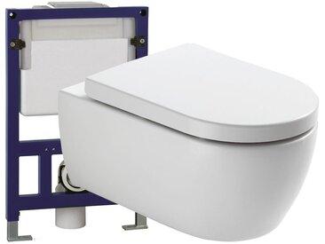 WC suspendu offre spéciale pack économique 4: NT2039 - bâti-support G3005 et plaque de déclenchement