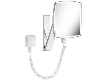 Keuco iLook_move Miroir grossissant, 17613, illuminé, 1 couleur claire, surface miroir : 200x200 mm, chromé - 17613019001