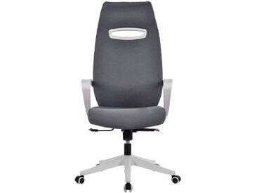 Chaise pivotante de bureau Spectra - Dossier design avec appuie-tête, gris
