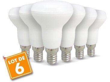Lot de 6 ampoules LED E14 R50 6W 510Lm | Blanc chaud 2700K