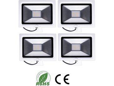 4×Auralum 30W Projecteur LED Ultraléger 2250LM Spot LED IP65 Éclairage Extérieur et Intérieur de Haute Luminosité Blanc Chaud 2800-3200K