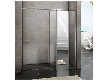 100x200cm Aica Paroi de douche à l'italienne avec miroir en verre anticalcaire