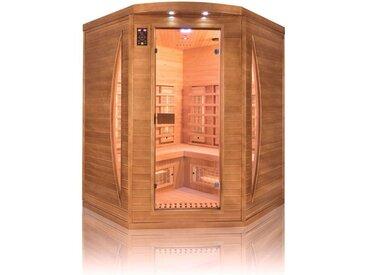 Sauna infrarouge Spectra 3 places angulaire - France Sauna - 160x160x200cm