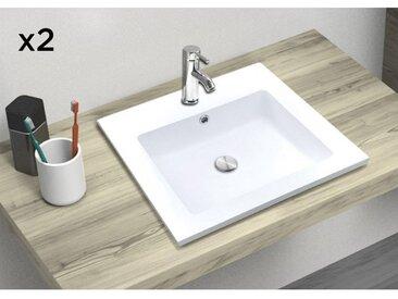 Vasque à Encastrer en Résine de Synthèse L50 ARIA - Lot de 2