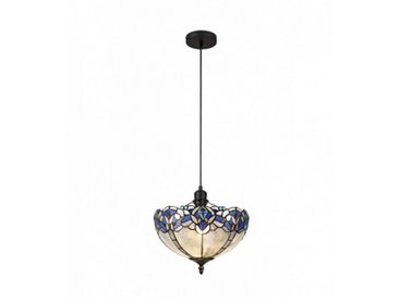 Suspension Tiffany Cofee 1 Ampoule Bleu 9 Cm