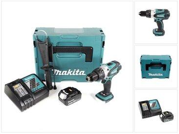 Makita DHP 458 RM1J 18V Li-Ion Perceuse-Visseuse à Percussion sens fil avec boîtier Makpac + 1x Batterie BL 1840 4,0 Ah + Chargeur rapide DC 18 RC
