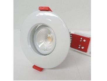 Spot encastré LED 5.7W Ø 95mm blanc orientable 3000K 550lm driver 230V dimmable IK02 IP20 CETUS MINI THORN EUROPHANE 96272533