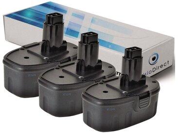 Lot de 3 batteries pour Black et Decker FS18 ponceuse 3000mAh 18V