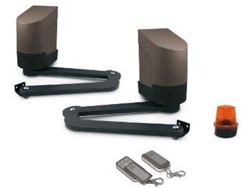 ORANE 400 - Motorisation pour portail battants - Avidsen - KIT PREMIUM : Motorisation + kit solaire + 2 télécommandes (4 en tout) + 1 digicode sans fil