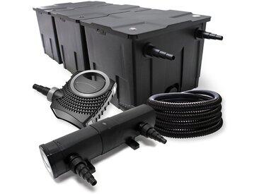 Kit de Filtration avec Bio Filtre 90000l, UVC Stérilisateur 36W, 80W Pompe et 25m Tuyau