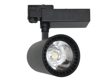 Spot LED sur Rail 40W 80° COB Triphasé NOIR - Blanc Chaud 2300K - 3500K