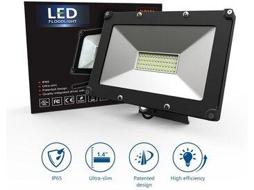 Projecteur éclairage LED 50W IP65 étanche Extérieur intérieur lampe 5700K-6000K Villa Pelouse Sous-sol Entrepôt