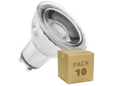 Ampoule LED GU10 COB Cristal 45º 7W Blanc Neutre 4000K Pack 10ud