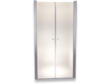 Porte de douche 195 cm largeur réglable 112-116 cm Dépoli-opaque