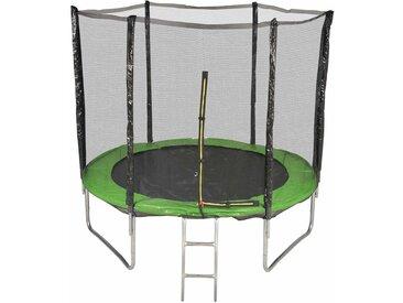 Trampoline de Jardin avec Filet Exterieur, diamètre 8 Ft / 244cm - 6 perches - Couleur au choix (Vert)