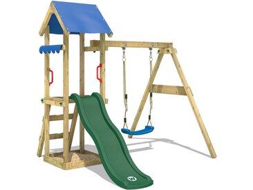 Balançoire WICKEY TinyWave aire de jeux avec balançoire, toboggan vert et bac à sable