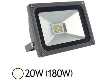 Projecteur ext LED 20W (180W) IP65 Finition gris anthracite Blanc jour 4000°K