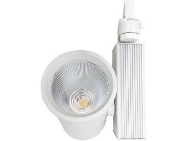 Spot LED sur Rail 35W 80° COB Triphasé BLANC - Blanc Froid 6000K - 8000K