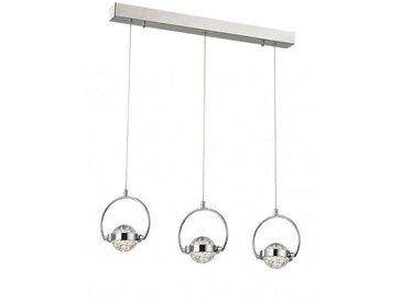 Suspension chromée LED Rolla 3 Ampoules