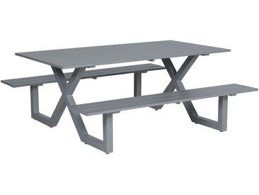 Table de pique-nique Napels - L180xW180xH71 - gris arctique - Garden Impressions