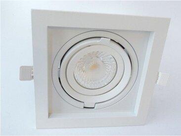 Spot encastré LED 23W carré 200X200mm blanc orientable 4000K 2100lm 230V dimmable 38° IP20 IK07 CARD ONE SHOP TRAJECTOIRE 003756