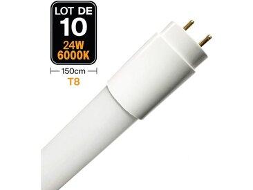 Lot de 10 Tubes Neon LED 23W 150cm T8 Blanc Froid 6000k Gamme Pro