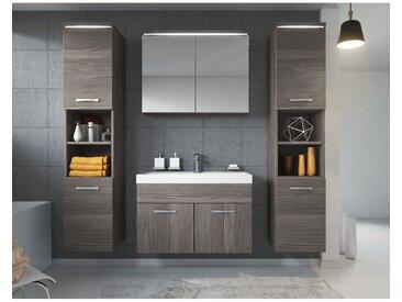 Meuble de salle de bain Paso xl Bodega (gris) 80x40 cm – Armoire de rangement Meuble lavabo evier Meuble lavabo