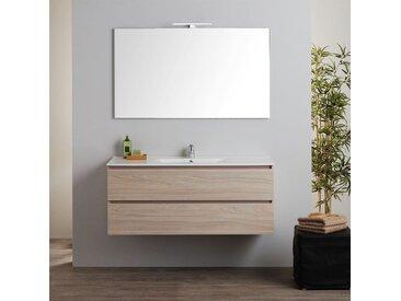 Armoire De Toilette Murale Avec Lavabo Intégré Et Miroir Série Berlin 120 Cm