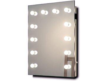 Diamond X Miroir de maquillage mural Hollywood Avec ampoules LED k90WWbath - Couleur LED : Ampoules LED blanches chaudes