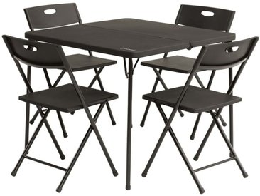 Outwell Ensemble de table de camping pliable Corda Noir