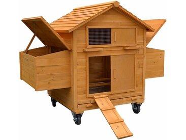 Poulailler enroulable avec 2 nichoirs et rampe d'accès maison à poulets, poulailler en bois