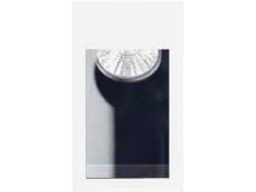 Encastré mural rectangle 140X90mm métal blanc pour lampe 12V culot G5.3 50W max (non incl) sans transfo KAWA TRAJECTOIRE 116901