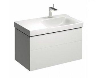 Geberit Geberit Xeno 2 Waschtischunterschrank mit Siphonausschnitt rechts 500.516., 880x530x462mm, 2 Schubladen, Coloris: Laque brillante blanche - 500.516.01.1