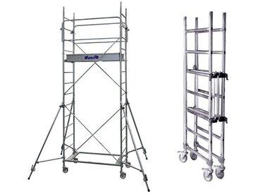 D. Echafaudage roulant aluminium à montage et démontage en sécurité
