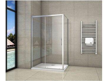 Cabine de douche 130x70x190cm porte de douche + paroi latérale