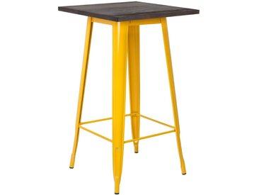 Table Haute LIX en Bois Jaune Fresia Bois Foncé