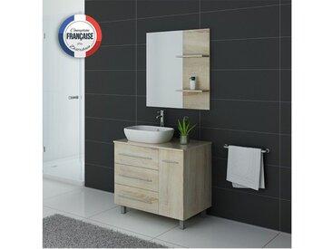Meuble de salle de bain simple vasque TOSCANE Scandinave
