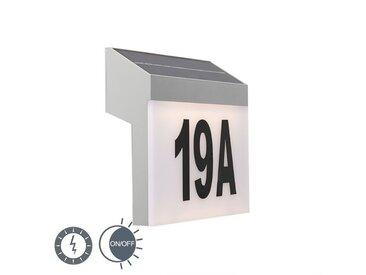Lampe d'extérieur Flush LED à l'énergie solaire avec PIR IP44 Qazqa Moderne Luminaire exterieur IP44